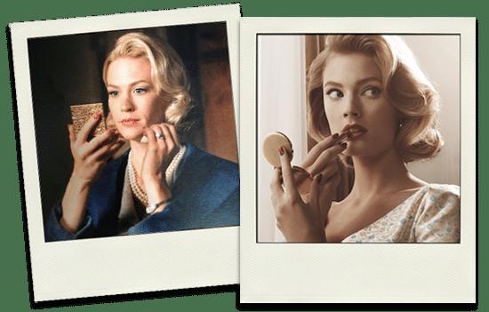 Betty Draper et Constance Jablonski pour Estée Lauder