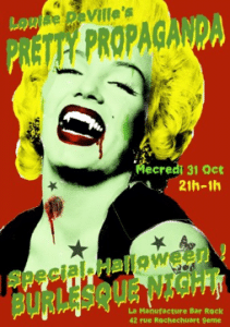 halloween burlesque manufacture paris