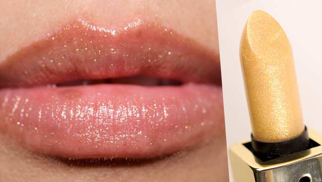 maquillage bouche fetes or