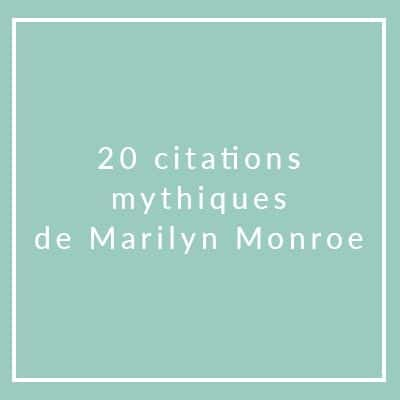citations marilyn monroe