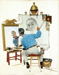 norman rockwell self portrait