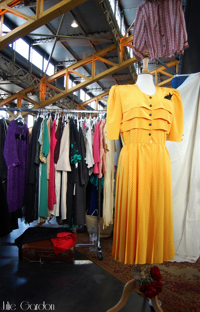 robe jaune vintage