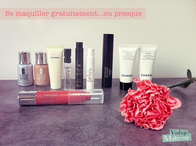 echantillons maquillage gratuit