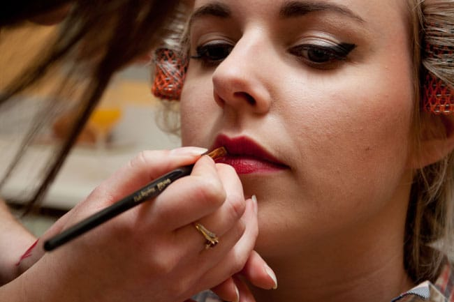 maquillage bouche rouge pinup