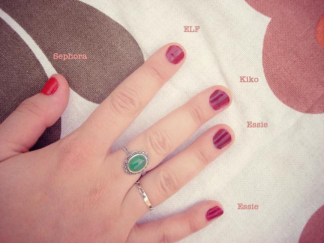test vernis a ongles rouge