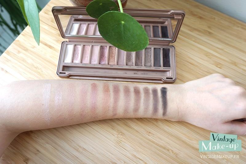 test palette naked 3 sur peau