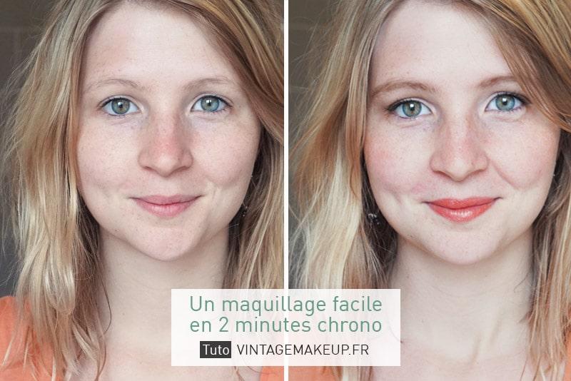 un maquillage facile