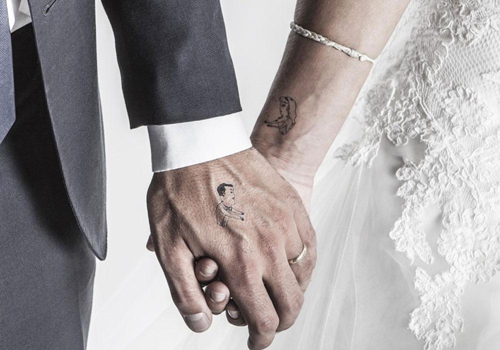 tatouages ephemeres mariage